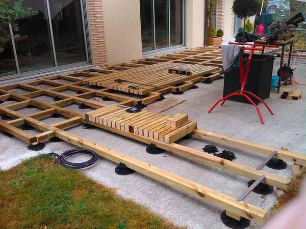 terrasse en bois sapin