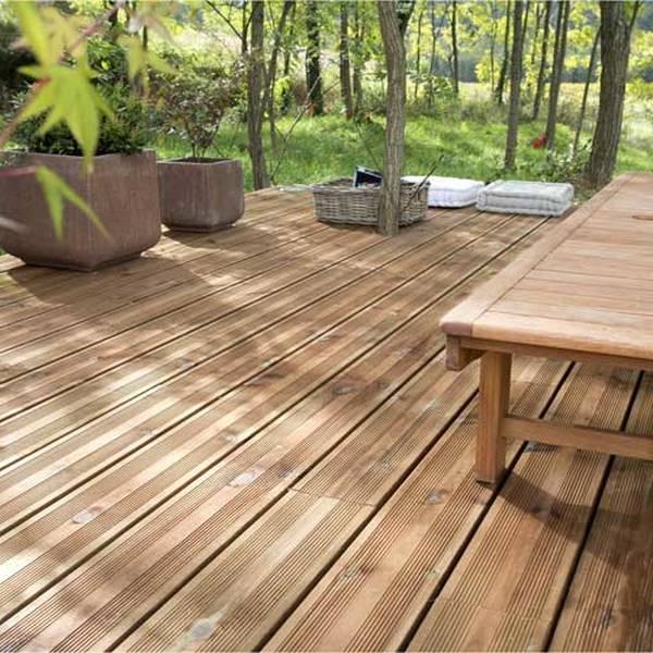 terrasse en bois appartement