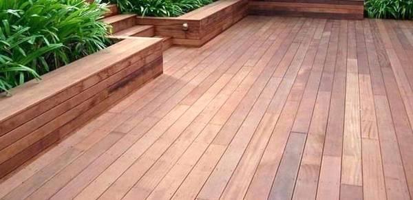 terrasse en bois traités